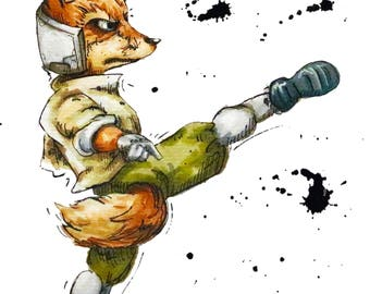 Fox Super Smash Bros Print