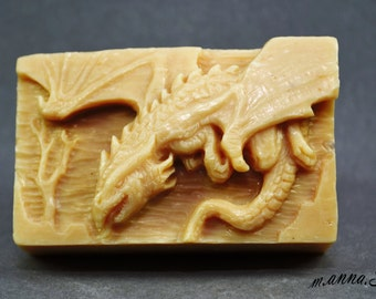 DRAGON SOAP MOLD silicone mould soap bar winter is coming  plaster clay wax resin monster