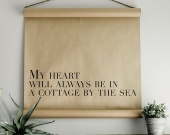 Cottage By The Sea Scroll