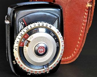 General Electric Exposure Meter Type PR-3 GE Light Meter In Original Case MiNTY !