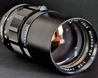 Minolta MC 200mm f/3.5 Tele Rokkor-QF Lens 4 Minolta SLR Camera Sony NeX MiNTY !
