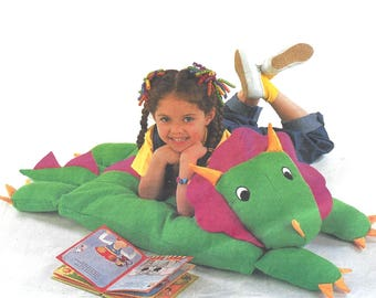 Butterick Crafts 3721 Sewing Pattern for Animal Pillow Covers Bear Dinosaur Lion and Cow Uncut