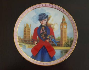 1992 Barbie Visits England by Elaine Gignilliat, Barbie collector plate