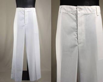 80's Pants.....80's White Flat Front Yacht Rock/Golf Pants
