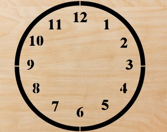 Clock  Stencil in reusable Mylar  small to large stencil up to 26 inches.