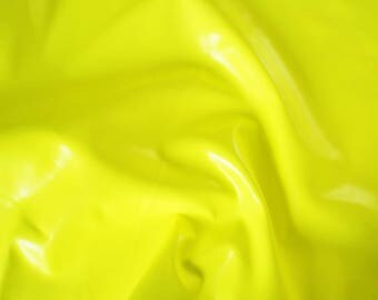 7.9 sqft Neon Fluorescent Electric Lime Yellow Lamb Skin Leather Hide for DIY bag, shoes, upholstery