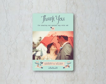 Simply Floral Thank You Card
