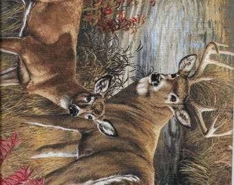 New Wild Wings Amongst the Shadows Deer Allover 100% cotton fabric by the yard and half yard