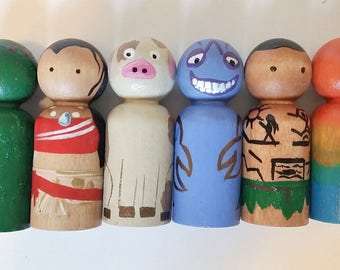 Moana Peg Dolls