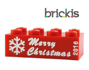 Engraved LEGO® brick with Merry Christmas personalized