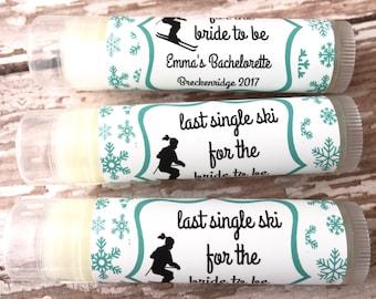 Ski Bachelorette Party Favors - Winter Theme Chapstick - Wedding Party Favors - Bridal Party Favor - Custom Lip Balm - Hangover Kit - Skiing
