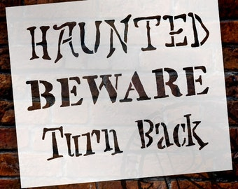 """Halloween Words Sign Stencil - 7"""" X 7"""" - STCL760_1 - by StudioR12"""