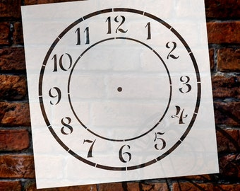 Country Time Clock Stencil - Select Size - STCL1525 - by StudioR12