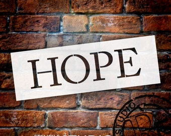 "Hope - Word Stencil - Traditional - 6"" X 2"" - STCL774_2 - by StudioR12"