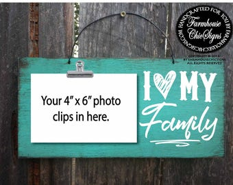 family, family sign, gift for family, family Christmas, family signs, family decoration, family wall decor, i heart my family, 284
