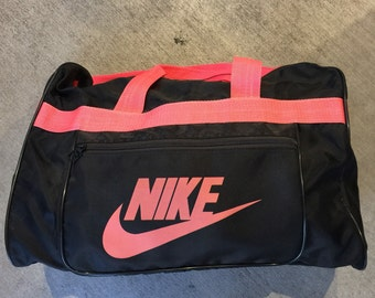 vintage 80s 90s nike duffle travel sports nylon workout streetwear bag