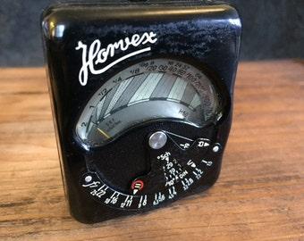 Vintage 1930s Horvex light meter