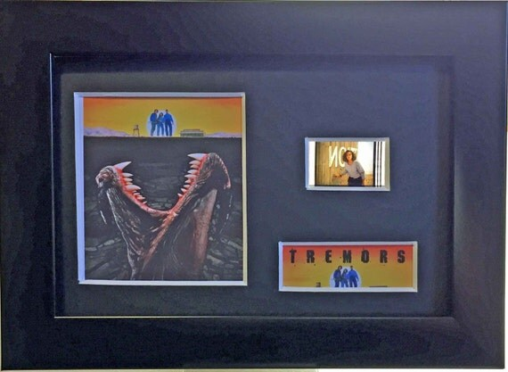 Tremors Kevin Bacon Fred Ward Finn Carter Michael Gross framed 35mm film cells - Black or Silver frames