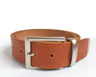 """Tan Leather Belt - 1"""" 1/2 - Handmade In Uk - Mens Belt - Jeans Belt - Tan Belt - Belts"""