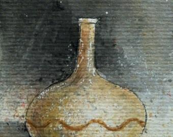 ACEO original 3 painted ceramic pots