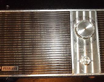 Peerless Solid State AM/FM Radio (Circa 1960s)