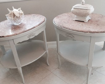 SOLD~Vintage French Nightstands or End Tables Large Size