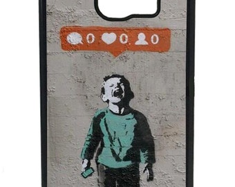 Banksy Social Networking Phone Case to Fit the Samsung Galaxy (all models)