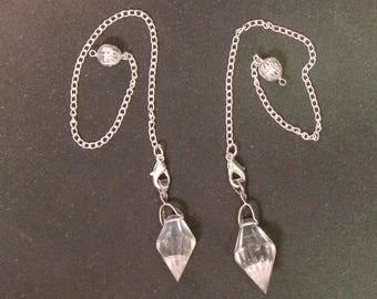 WholesaleGemShop - Gemstone Faceted Herkimer Diamond Pendulum with Free Shipping