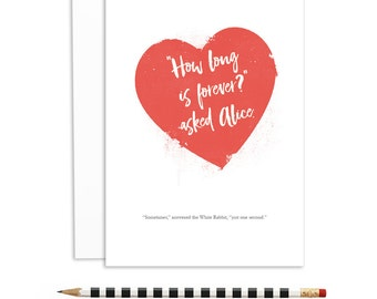 romantic cards, cards for lovers, how long is forever, time stands still with you | A6-1126