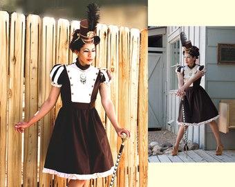 Steampunk Short Majorette Dress - Ready to Ship