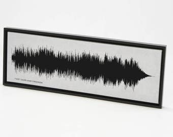 Fast Cars and Freedom - Song SoundWave Art - Created From Entire Song