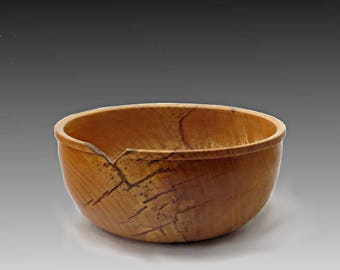 Woodturning,Turned Wood Bowl, Spalted Wood Bowl, Spalted Maple Bowl,Valet Tray,Salad Bowl,wood salad bowl,rice bowl,candy dish,