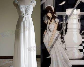 Vampire Knight Cosplay, Yuki Cross / Yuki Kuran Pure White Maxi Dress Costume
