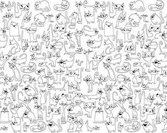 """Coloring poster """"Funny Cats"""" size 60*200 cm"""