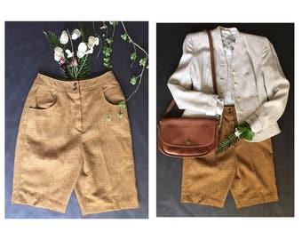 1960's High Waist Wool Shorts