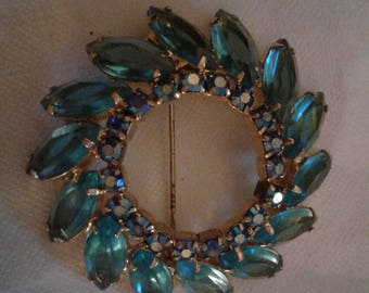 Vintage Light Blue Brooch