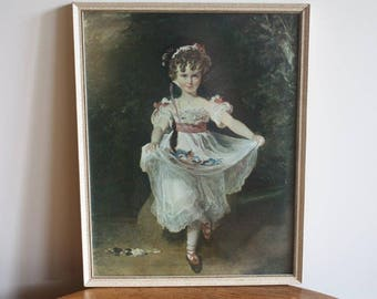 Vintage Framed Print 'Miss Murray' by Thomas Lawrence ~ Vintage Wall Art