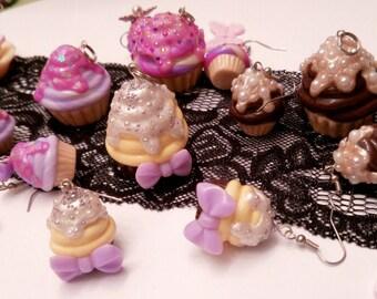 Cupcake earrings an pendant set