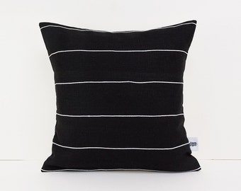 Standard Pillow Sham   Black Home Decor   Linen Black   Accent Pillows    Modern Cushions