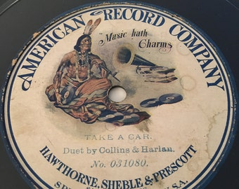 American Record Company Duet by Collins and Harlan Take A Car No 031080 c1905
