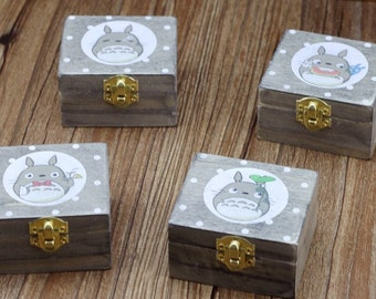 Wood Totoro music box: castle in the sky