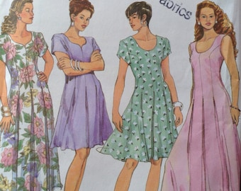 Simplicity 8292 Easy to Sew Dress Pattern / Size P 12-16 / UNCUT