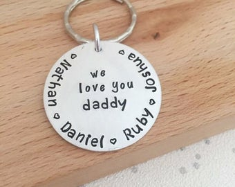 personalised keyring gift for dad, fathers day, gift dad, father's day gift idea, daddy, dad gifts, fathers day, personalized mens man