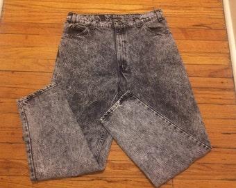 Vintage Levi's Black Acid Washed Denim Jeans
