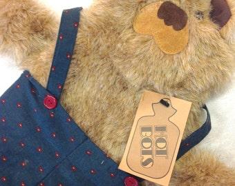 Hot Water Bottle Cover-Adorable Fur Bear NEWm Wearing Green Pants