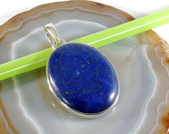Lapis lazuli in 925 sterling silver pendant - 6332