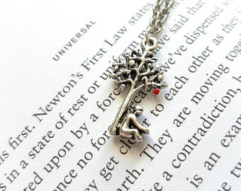 Isaac Newton Necklace // Science Necklace // Science Gift // Physics Gift // Tree Necklace