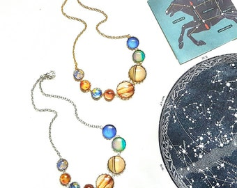 Solar System Necklace // Solar System Jewelry // Planet Necklace // Space Jewelry // Space Gift // Galaxy Necklace
