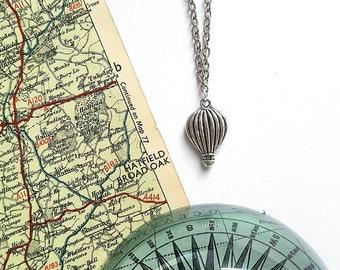 Hot Air Balloon Necklace // Hot Air Balloon Jewelry // Travel Jewelry // Travel Gift // Wanderlust Jewelry