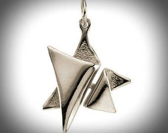 Artistic Artisan Design 925 Sterling Silver Star of David Pendant for Necklace